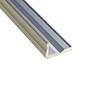 Profil aluminiowy do taśm LED schodowy MINI; aluminium anodowane; kolor srebrny: OLT.PR-STAIR.MINI2.0-sa