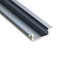 Profil aluminiowy do taśm LED wpuszczany MINI; aluminium anodowane; k. srebrny: OLT.PR-WPMINI2.0-sa