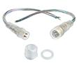 Komplet złącz DC do taśm LED 4 styki, jednokolorowych(4części),wodoodporny IP68: OLT.ZDC-4