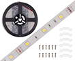 Taśma LED naturalna biała (4500K), 150LED 5050, 3A, 36W, 12V, 120°, 1576lm: OLTBN150B68b12s