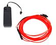 Wąż świetlny czerwony, 50mA, 360°, 200cd/m2, zasilanie 2xAA: OLWC.1.3mm-3m.BAT