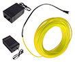 Wąż świetlny limonkowy, 50mA, 230V AC, 360°, 200cd/m2, z zasilaczem: OLWL.2.3mm-10m.ZAS