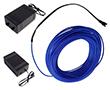 Wąż świetlny niebieski, 50mA, 230V AC, 360°, 200cd/m2, z zasilaczem: OLWN.2.3mm-10m.ZAS