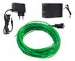 Wąż świetlny zielony, 50mA, 220V AC, 360°, 200cd/m2, z zasilaczem: OLWZ.1.3mm-10m.ZAS
