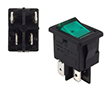 ON-OFF zielone podświetlenie 230V DPST 4P: PRZ H8553VBNAE