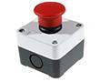 Przycisk grzybkowy fi 40mm,czerwony,bez podśw.,IP40/54: PRZ LAY5-B164