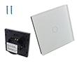 Przełącznik ścienny, podtynkowy, zarządzalny, dotykowy, jednoprzyciskowy: PRZ RC HLS-A801-03-EU