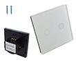 Przełącznik ścienny, podtynkowy, zarządzalny, dotykowy, dwuprzyciskowy: PRZ RC HLS-A802-03-EU