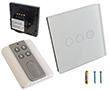 Przełącznik ścienny, podtynkowy, zarządzalny, dotykowy, trójprzyciskowy: PRZ RC HLS-A803-03-EU