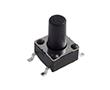 Tact switch 6.2x6.2mm h=9.5mm, SMD, pyłoszczelny, taśmowany, obudowa 9T BK,: PRZ Tssd06-095t