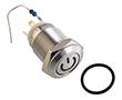 12mm, monostabilny 1NO, stal nierdzewna, do lutowania, z płaskim przyciskiem: PRZ W12F11ER12/S power