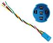 Złącze do przycisków W16, przew. 15cm, biały, żółty, czerwony, zielony, czarny: PRZ W16Z/150mm