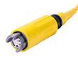 Seria: Expanded beam, wielomodowy, 2 rdzenie, IP68, długość kabla: 1m: Z 33044110010002