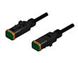 Złącze elektrozaworowe DT gniazdo 2 pin M12x1 thread kabel 2m PUR: Z 55-00391