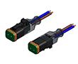 Złącze elektrozaworowe DT gniazdo 2 pin LED-protection circuit kabel 2m PUR: Z 55-00482