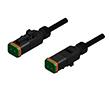 Złącze elektrozaworowe DT gniazdo 2 pin LED-protection circuit kabel 5m PUR: Z 55-00561