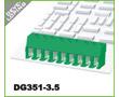 300V, 10A, 26-16AWG, 1.5mm2, prosty, otwór prostokątny, PA66, UL94V-0, M2: Z DG351-3.5/4-11