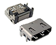 Gniazdo HDMI 19 pin,  kątowe  SMD,: Z HDMIGk