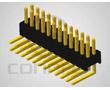 wtyk dwurzędowy 2x40pin, kątowy, do druku, styki pozłacane, r. 1.27mm: Z L2x40R 1.27