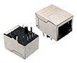 pojedynczy port 10/100 Base-T, LED, montaż poziomy THT, IEEE 802.3: Z LPJ0011HENL