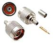 wtyk męski prosty, zaciskany na kabel LMR-240: Z N102