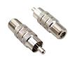 Adapter: wtyk RCA / gniazdo F: Z RCA601