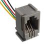 gniazdo telefoniczne 4P4C do obudowy, z wyprowadzonymi 4 przewodami: Z TG4P4Cl
