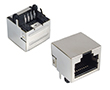 gniazdo telefoniczne 8P8C, standard, w pełni ekranowane, kątowe do druku: Z TG8P8C ek MP