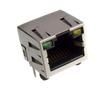 gniazdo telefoniczne 8P8C, standard z diodami LED, kątowe do druku: Z TG8P8C led YG