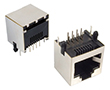 gniazdo telefoniczne 8P8C, miniaturowe, kątowe do druku, ekranowane: Z TG8P8Cme
