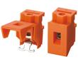 2 pola, r. 7,5mm, wys. 18.4mm, kolor pomarańczowy: Z TLR62