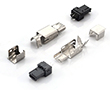 Wtyk USB typ mini A, czarny izolator, do lutowania przewodów, 4 s: Z USBw-mAc-z