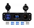 Zestaw 3w1: gniazdo zapalniczki; ładowarka USB: 1A, 2.1A; woltomierz cyfrowy: Z.CAR3w1.2RN
