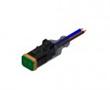 Złącze elektrozaworowe DT gniazdo 2 pin LED-protection circuit kabel 0.5m PUR: Z 55-00560