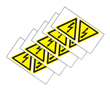 Labels Warning Label Polyvinyl Chloride Gloss Black/Yellow: P 8-1768019-1