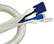 Elastyczny organizator kabli na rzepy, szary, 1,8m: K KAB0007