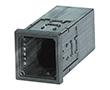 Obudowa tablicowa 96.0x48.0x109.5mm, czarna: OB NGS-9410