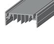Profil aluminiowy do taśm LN50; aluminium anodowane; kolor: srebrny: OLT.PR-LN50-2.0-sa