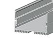 Profil aluminiowy do taśm LS70; aluminium anodowane; kolor: srebrny: OLT.PR-LS70-2.0-sa