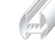Profil aluminiowy do taśm LSK; aluminium anodowane; kolor: srebrny: OLT.PR-LSK-2.0-sa