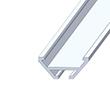 Profil aluminiowy do taśm LSU; aluminium anodowane; kolor: srebrny: OLT.PR-LSU-2.0-sa