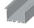 Profil aluminiowy do taśm LSW40; aluminium anodowane; kolor: srebrny: OLT.PR-LSW40-2.0-sa