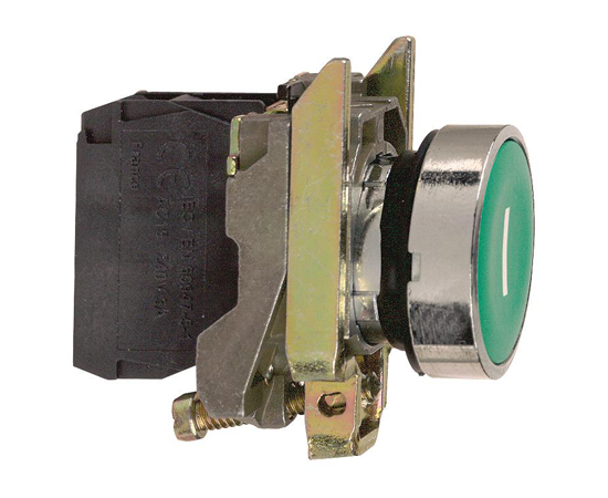 Push-button, 1-position, NO, 3A/240VAC, 22mm, IP66: PRZ XB4BA31