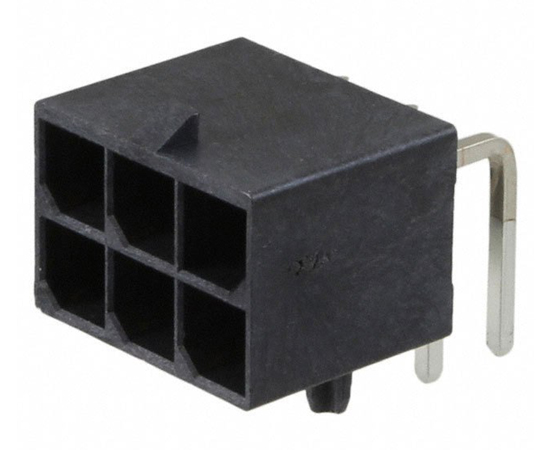 Male connector, angled 6pin, pitch 5.7mm: Z MX-1720640006