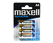 Zinc battery AA/R6 1.5V 14x50mm 3000mAh Maxell shrink 4 pcs: BATAA-max S4