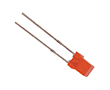 LED 3x5mm; red; luminosity 3 - 5 mcd; diffused;: OLC.3x3m0005