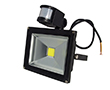 20W LED flood light w/ PIR sensor, cold white, 1800lm, 120°, 230V: OLFL.BZ.20Wk-ms