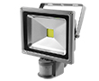 20W LED flood light w/ PIR sensor, cold white, 1800lm, 120°, 230V: OLFL.BZ.20Wks-ms