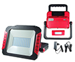 Portable 30W LED flood light w battery (13,5h), cold white, 2700lm, 120°, 8.4VDC: OLFL.BZ.30Wcn_MAX