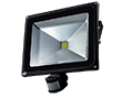 50W LED flood light w/ PIR sensor, cold white, 3200lm, 120°, 230V: OLFL.BZ.50Wk-ms